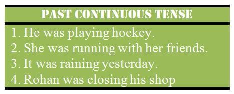 Past Continuous Tense - Rules, Examples and Exercises