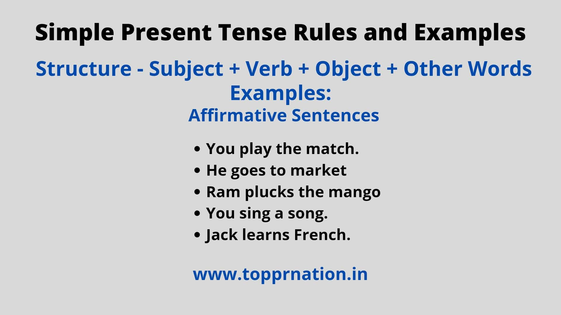 Simple Present Tense Present Indefinite Tense   Rules and Examples